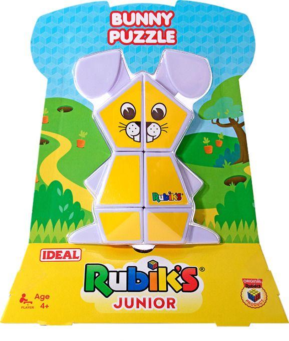 IDEAL Rubik's Junior Puzzle Cube Bunny Puzzle Childrens Toy